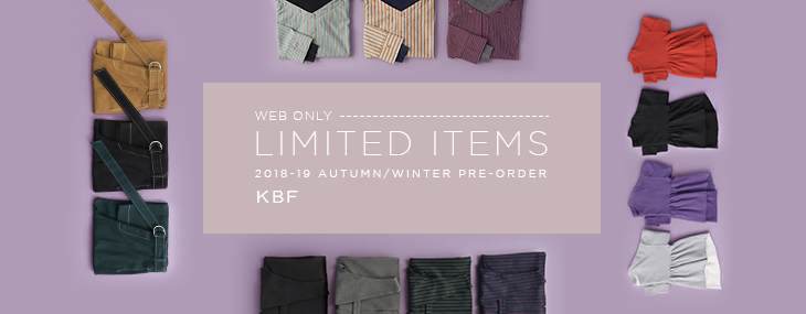 KBF LIMITED ITEMS PRE-ORDER