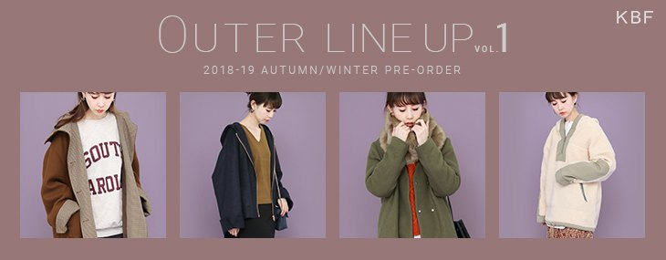 KBF OUTER LINE UP VOL.1 PRE-ORDER