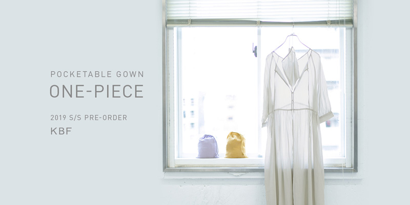 KBF POCKETABLE GOWN ONE-PIECE PRE-ORDER