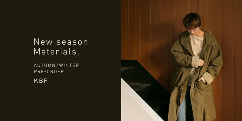 KBF New season Materials. PRE-ORDER